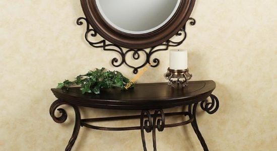 Кованые зеркала и консоли