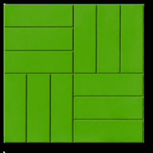 тротуарная плитка 12 кирпичей зеленый