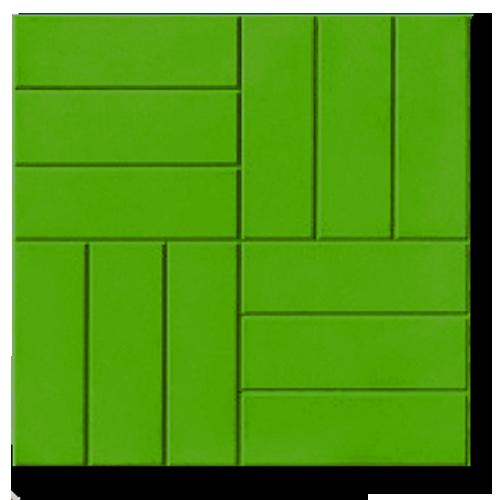 Плитка 12 кирпичей зеленый от КовкаПлитка