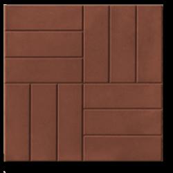 тротуарная плитка 12 кирпичей коричневая