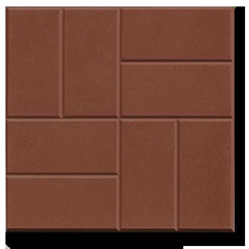 Коричневая плитка 8 кирпичей