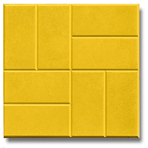 Желтая плитка 8 кирпичей