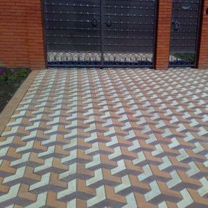 Тротуарная плитка бумеранг