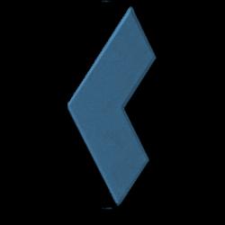Тротуарная плитка бумеранг синий
