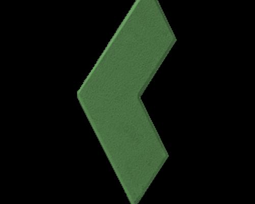 Тротуарная плитка бумеранг зеленый