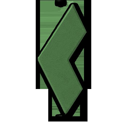 Бумеранг зеленый