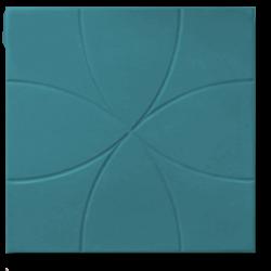 Тротуарная плитка цветок синий