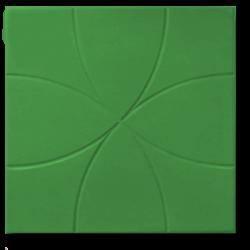 Тротуарная плитка цветок зеленый