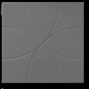Тротуарная плитка цветок серый