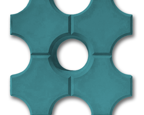 Тротуарная плитка эко синий