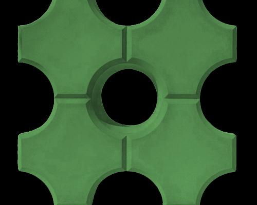 Тротуарная плитка эко зеленый