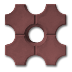 Тротуарная плитка эко коричневый