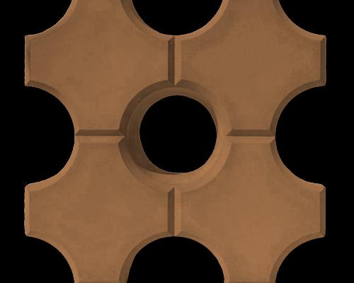 Тротуарная плитка эко оранжевый