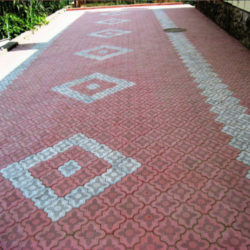 Тротуарная плитка клевер узорный