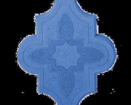 Тротуарная плитка клевер узорный синий