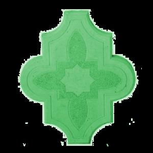 Тротуарная плитка клевер узорный зеленый