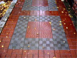 Тротуарная плитка колодец