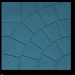 Тротуарная плитка паутина синий