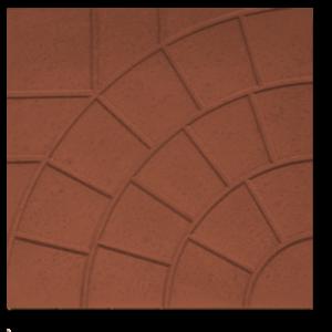Тротуарная плитка паутина коричневый