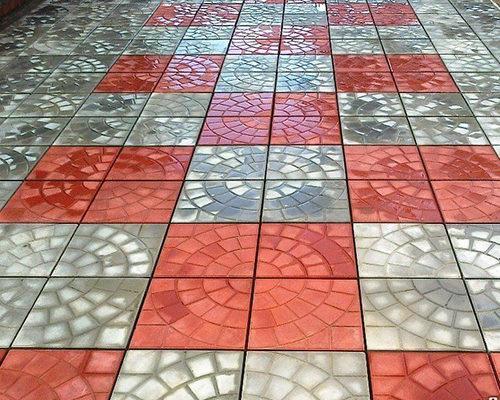 Тротуарная плитка паутина