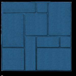 Тротуарная плитка шоколадка синий