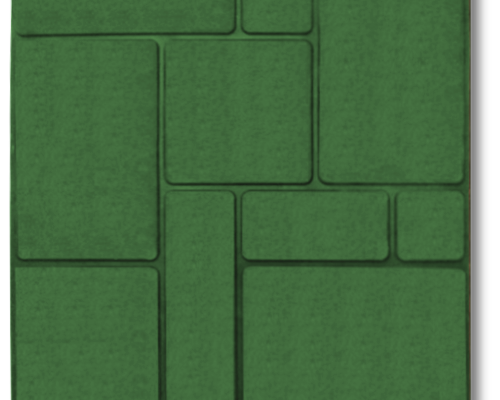 Тротуарная плитка шоколадка зеленый
