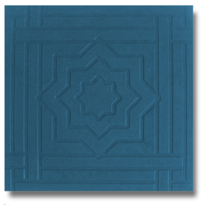 Тротуарная плитка звездочка синий