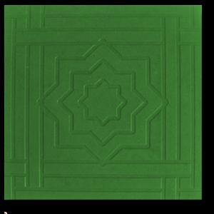 Тротуарная плитка звездочка зеленый