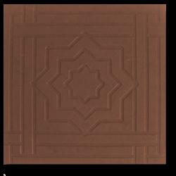 Тротуарная плитка звездочка коричневый