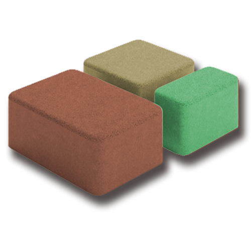 Брук тройной коричневый, зеленый, оранжевый
