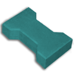 Тротуарная плитка катушка синий