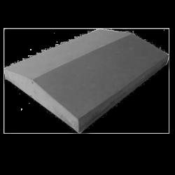 Крышка на забор серый