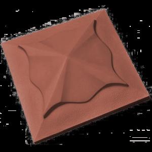 Крышки забора коричневый