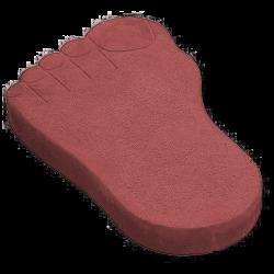 Тротуарная плитка следы великана красный